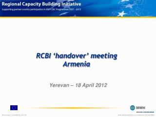 RCBI 'handover' meeting Armenia