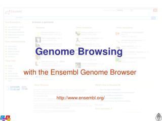 Genome Browsing