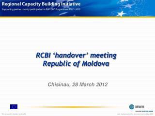 RCBI 'handover' meeting Republic of Moldova