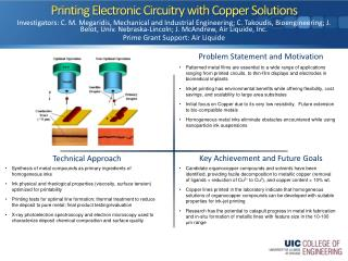 Printing Electronic Circuitry with Copper Solutions
