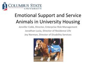 Emotional Support and Service Animals in University Housing