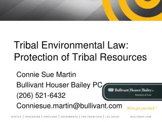 Tribal Environmental Law:  Protection of Tribal Resources