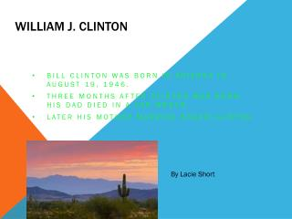 William J.  C linton