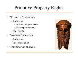 Primitive Property Rights