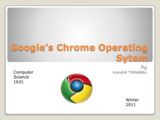 Google's Chrome Operating  Sytem