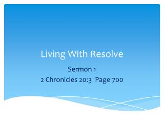 Living With Resolve