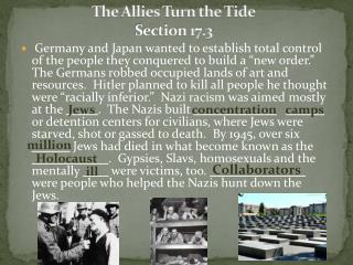 The Allies Turn the Tide Section 17.3