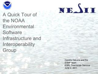 A Quick Tour of the NOAA Environmental Software Infrastructure and Interoperability Group