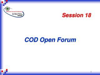 COD Open Forum