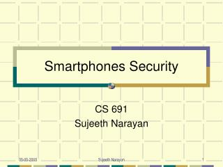 Smartphones Security