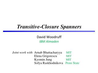 Transitive-Closure Spanners