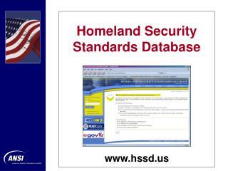 Homeland Security Standards Database