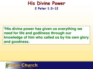His Divine Power