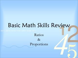 Basic Math Skills Review