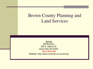 Brown County Planning and   Land Services