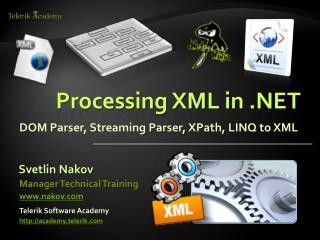 Processing XML in .NET