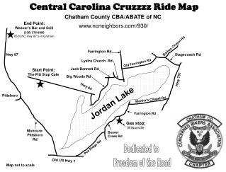 Central Carolina Cruzzzz Ride Map