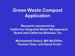 Green Waste Compost Application