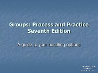 Groups: Process and Practice Seventh Edition