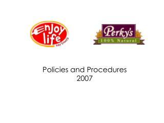 Policies and Procedures 2007
