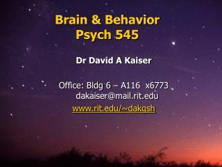 Brain  Behavior Psych 545
