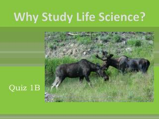 Why Study Life Science?