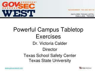 Powerful Campus Tabletop Exercises