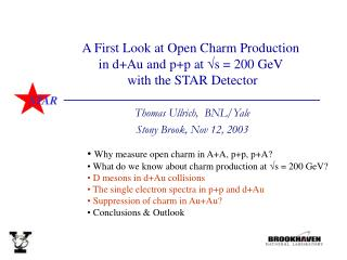 A First Look at Open Charm Production  in d+Au and p+p at  s = 200 GeV  with the STAR Detector