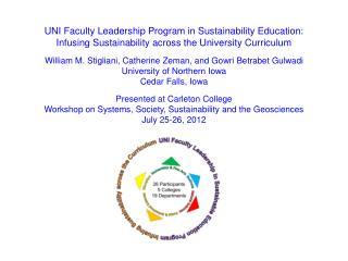 UNI Faculty Leadership Program in Sustainability Education: