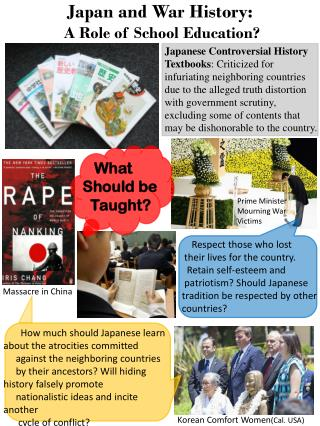 Japan and War History:   A Role of School Education?
