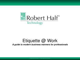 Etiquette  Work