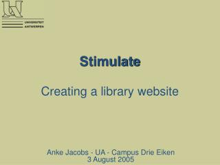 Stimulate Creating a library website