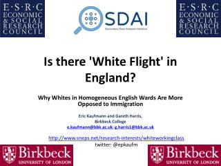 Is there 'White  Flight'  in England?
