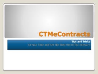 CTMeContracts