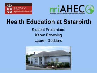 Health Education at Sstarbirth