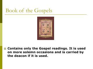 Book of the Gospels