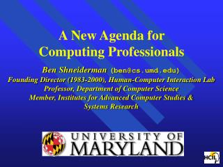 Human-Computer Interaction Laboratory   Interdisciplinary research community