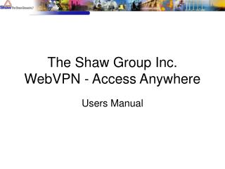 The Shaw Group Inc.