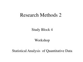 Research Methods 2