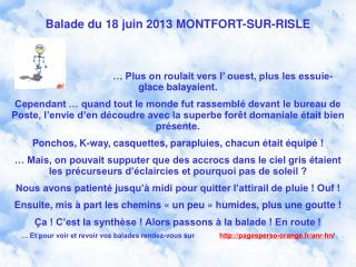 Balade du 18 juin 2013 MONTFORT-SUR-RISLE