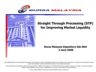 STP by Bursa Malaysia Depository
