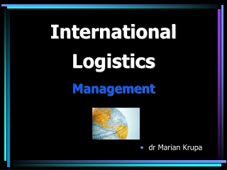 Global Logistics Technology  A Brief Overview for
