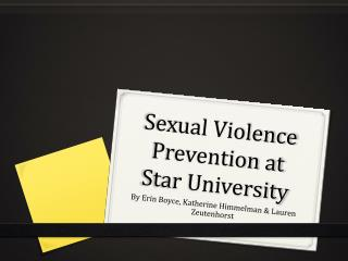 Sexual Violence  Prevention at Star University