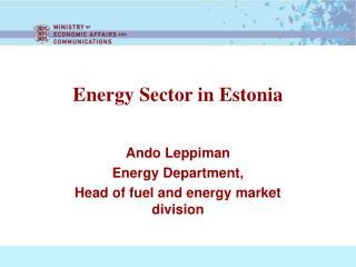Energy Sector in Estonia