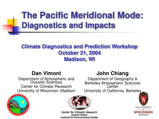 The Pacific Meridional Mode:   Diagnostics and Impacts