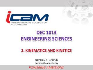 DEC  1013 ENGINEERING  SCIENCEs