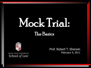 Mock Trial: The Basics