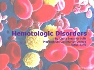 Hemotologic  Disorders