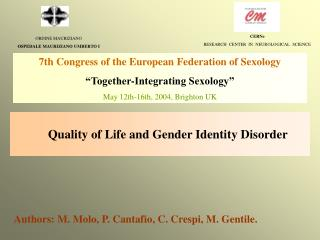 Quality of Life and Gender Identity Disorder