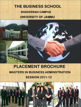 THE BUSINESS SCHOOL BHADERWAH CAMPUS                         UNIVERSITY OF JAMMU